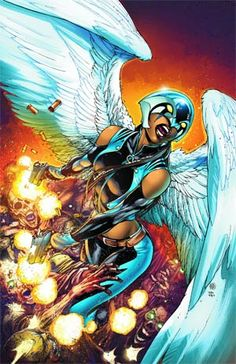 """Check out the debut of Ivan Reis and Joe Prado's cover for Earth 2 featuring our first look at a character who's """"Earth Prime"""" counterpart has actually yet to make her New 52 debut: Hawkgirl. Comic Book Characters, Comic Character, Comic Books Art, Comic Art, Book Art, Superhero Characters, Val Zod, Robert E Howard, Cultura Nerd"""