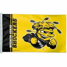 NCAA Wichita State Shockers 3-by-5 foot Flag by WinCraft. Save 37 Off!. $15.68. Made of durable, 3-thread polyester with long-lasting color-fast dyes.. D-Rings allow for attaching to flag pole.. Made in the USA. 100% show-through on both sides. Vibrant graphics and team colors. Officially licensed 3-by-5-Inch flag with attached D-rings. The imprint is 100% show through to the backside with a long lasting color-fast die. Fly on a flagpole or hang it on a wall. Flags come poly-bagged with ...