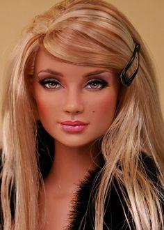 A uniquely pretty doll. Barbie Life, Barbie World, Beautiful Barbie Dolls, Pretty Dolls, Fashion Royalty Dolls, Fashion Dolls, Vintage Barbie, Realistic Barbie, Dress Up Dolls