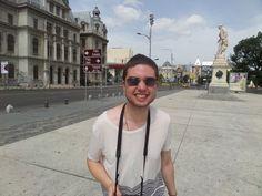 A happy Matt in Bucharest