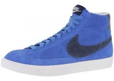 sports shoes f30b2 0d610 Nike Blazer Mid premium Vintage suede Chaussure pour Homme Bleu Blanc,Latest  trainers arrive - order from us with good price.