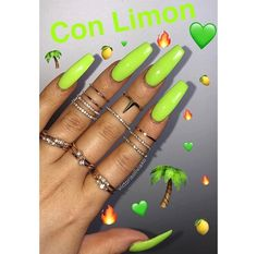 "Green  ↬  check my board ""nails "" for more ⬇️  • - ̗̀ pinterest 