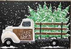 Would you leave this up after Christmas? Merry Christmas, Christmas Truck, Christmas Tree Farm, After Christmas, Vintage Christmas Cards, Christmas Pictures, Christmas Holidays, Christmas Crafts, Christmas Decorations