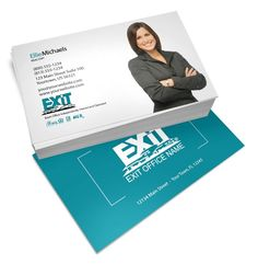 This luxurious exit realty business card template design features a we print high quality exit realty business cards for real estate professionals colourmoves