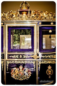 The Irish State Coach at the Royal Mews, London, England