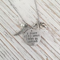Custom Hand Stamped Jewelry, Personalized Ornaments by SoulCysterCreations Grieving Mother, Charms, Child Loss, Infant Loss, Memorial Jewelry, Sympathy Gifts, Note, Tattoo Ideas, Handmade Gifts