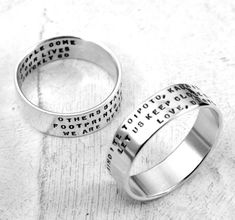 Three Line Posey Ring  personalized ring in by KathrynRiechert, $60.00