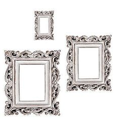 Distressed white frame photo booth props - new years eve party