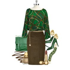 Green Satchel, created by itscindylou on Polyvore