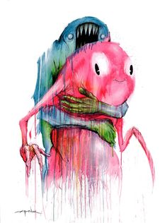 """TheBackpackColorway""  Alex Pardee is an artist that I have followed since I was a kid. his raw use of the medium, horrific yet playful images, and success making the things he wants to make has made him into one of my personal heroes."