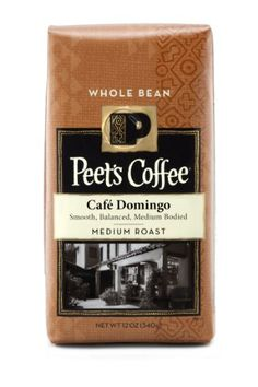 Peets Whole Bean Coffee Cafe Domingo 12Ounce Pack of 2 ** Visit the image link more details.  This link participates in Amazon Service LLC Associates Program, a program designed to let participant earn advertising fees by advertising and linking to Amazon.com.