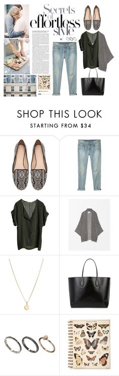 """Calling All Shoe-A-Holics: Zara Ethnic Slippers"" by lanzascoloradas ❤ liked on Polyvore featuring Zara, R13, Graumann, Laura Lee, Rochas and Orelia"