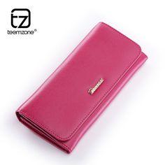 New Women Real Leather Wallet Clutch Long Card Holder Coin Purse Handbag