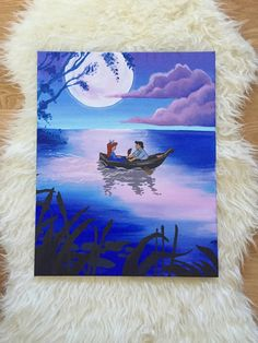 The little mermaid acrylic painting by AcrylicArtista on Etsy. $50.00 Ariel painting