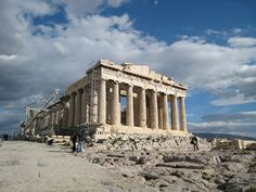 The Parthenon. The Acropolis of Athens is one of the most visited ruin sites on the plane