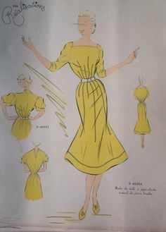 "From "" Croquis Couture"" - Haute couture - summer 1951"
