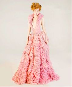 """""""The Elizabeth"""" - Wedding Dress knitted by Jemma Sykes for Butcher Couture http://thecysight.tumblr.com"""