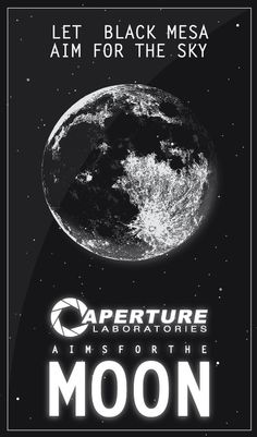 Aperture Laboratories poster.