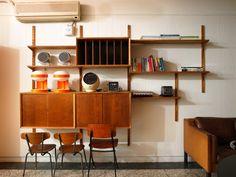 不上班的日子 ... 偽貴婦的台傭生活: [北歐經典老件家具]千變萬化的壁櫃 Poul Cadovius Royal System