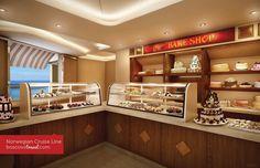 TV's famous Carlo's Bake Shop (from Cake Boss) onboard Norwegian #Breakaway !!!  I LOVE to cruise like a Norwegian !!!