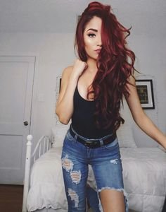 Dark red hair #redhair