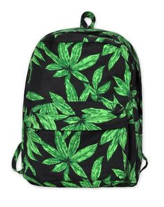 Motel Tripper Printed Rucksack in Green Palm Leaf #bag #covetme