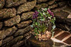 wine wedding decor, corks, grapes, bird cages, DIY