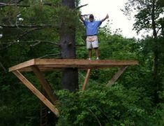 DIY Treehouse Platform