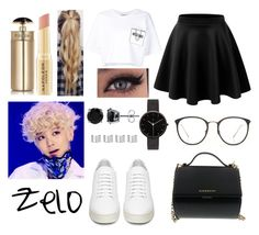 """""""Choi Jun Hong"""" by dounia-bts-swag ❤ liked on Polyvore featuring Off-White, Moschino, Napoleon Perdis, Prada, Givenchy, I Love Ugly, BERRICLE, Maison Margiela, LE3NO and Linda Farrow"""