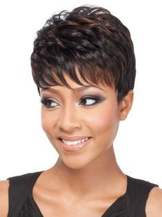 The latest synthetic and human hair wigs from Raquel Welch, Jon Renau, and more. Short Hair Wigs, Short Hair With Bangs, Hairstyles With Bangs, Human Hair Wigs, Easy Hairstyles, Curly Hair Styles, Natural Hair Styles, Jon Renau, Bouncy Curls