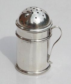 SUPERB RARE VICTORIAN Saunders & Shepherd SOLID SILVER NOVELTY POUNCE POT