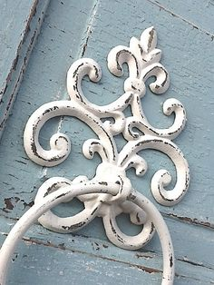 Old World Cast Iron Towel Holder Shabby Chic by CamillaCotton, $19.00