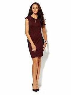 Colorblock Ponte Sheath Dress  from New York & Company
