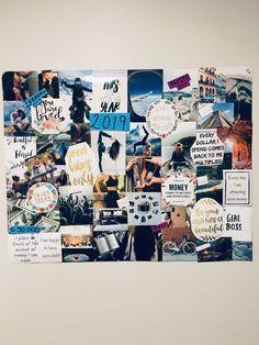 Vision board 2019 ||• dream board || tablero de sueños • - #Board #de #dream #sueños #tablero #vision