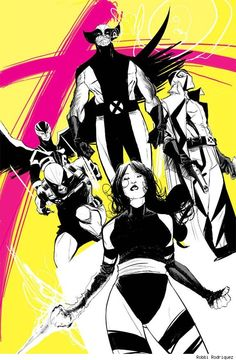 Uncanny X-Force ~ art by Robbie Rodriguez