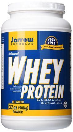 Jarrow Formulas Whey Protein, Supports Muscle Development, Unflavored, 32 oz.