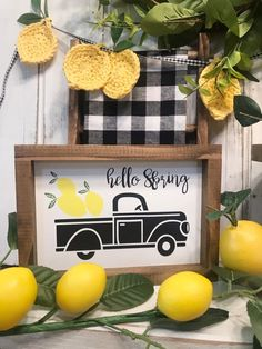 Much more concerning the picture below Funny Kitchen Decor Lemon Kitchen Decor, Yellow Kitchen Decor, Farmhouse Kitchen Decor, Kitchen Ideas, Kitchen Themes, Farmhouse Interior, Country Farmhouse, Lemon Crafts, Truck Signs