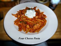 Cheesecake Factory's Four Cheese Pasta. Penne Pasta, Mozzarella, Ricotta, Romano and Parmesan Cheeses, Marinara Sauce and Fresh Basil. Also served with Chicken. Best Pasta Recipes, Great Recipes, Favorite Recipes, Three Cheese Pasta Recipe, Cheesecake Factory Recipes, Penne Pasta, Italian Recipes, Food To Make, Food And Drink
