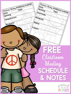 This informative post outlines how-to run effective classroom meetings and includes the schedule, topics, lessons ideas, books, and a FREE planner!