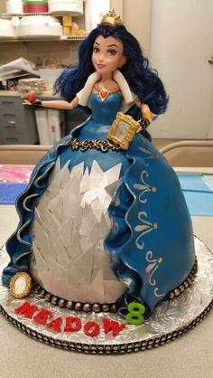Disney Descendants Evie cake I made for my daughter.