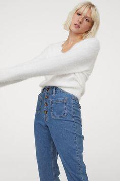 Flauschiger Pullover - Weiß - Ladies | H&M DE