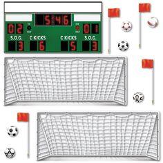 Dekofolien Fußball-Tor, 13-teilig, 8-90cm