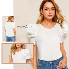 Find an affordable & flexible number of womanly ladies blouses. Blouses For Women, Ladies Blouses, Casual Skirt Outfits, Blouse Outfit, Ladies Dress Design, Blouse Designs, Sleeves, Shirts, Fashion Design