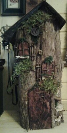 fairy house out of oatmeal container - Google Search