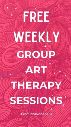 """Promotional Image for Pinterest - """"Free weekly group art therapy sessions"""""""