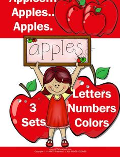 Apples Apples Apples from RFTS PreK-Kindergarten on TeachersNotebook.com - (34 pages) - FREE Apples Apples Apples pack is prefect for PreKinders who are learning these new concepts as well as children beginning kindergarten. Concepts included can be used to introduce, teach, review and