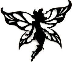 Disney Fairies Iron-On Appliques-Lily Silhouette