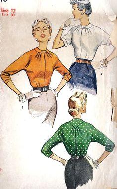 1950s Blouse Pattern