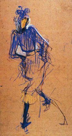 Henri de Toulouse-Lautrec, c.1891, Jane Avril Dancing, Musee Toulouse Lautrec.