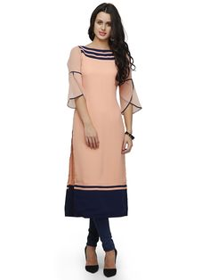 Shop Online for Peach Straight Kurta in India at Voonik.com, 2494828 ✓Easy Returns ✓Pan india Shipping ✓Affordable Prices ✓Cash On Delivery